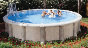 Above ground pools on ground pools inground pools for Largest round above ground pool