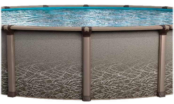 Revelle Resin Hybrid Above Ground Pools 52 Wall