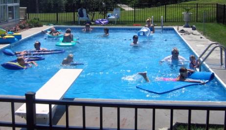 Rectangle Inground Pools hydra 12' x 24' rectangle steel wall inground pools