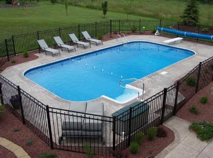 Hydra 18x36 Rectangle Steel Inground Pool With 4ft Radius