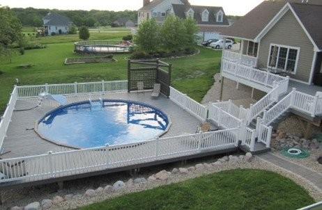 Ultimate 28 Round Inground Pool Kit White Bendable Aluminum Coping Free Shipping Lifetime Warranty 61423