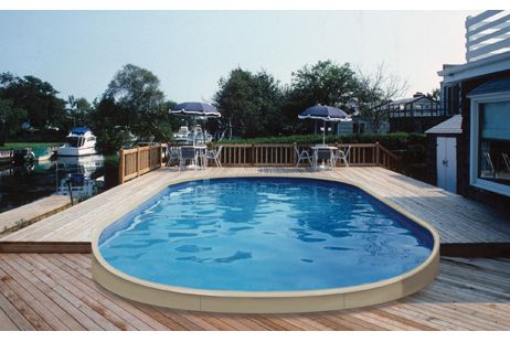 On Ground Pools - Semi Inground Swimming Pools