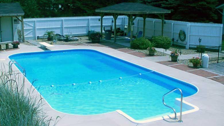 rectangle inground pool kits steel wall