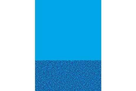 15 X 24 Oval Blue Wall Pebble Bottom Overlap Pool Liner